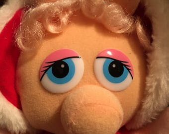 Baby Miss Piggy in Red Winter Outfit