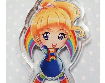 Rainbow Brite Acrylic Charm anime shoujo