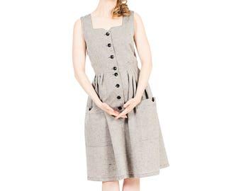 Karla Linen dress Salt and Pepper