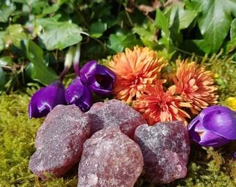 Universal love - raw strawberry quartz