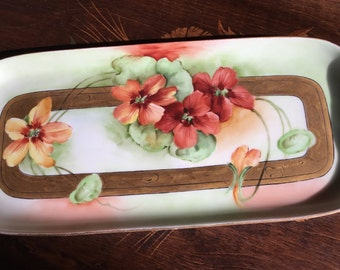 Celery Tray Server Heavily flowered and handled