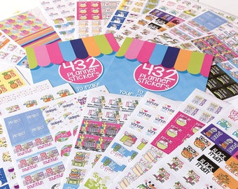 Create your own Planner Sticker Bundle   Choose TWO sets from 4 styles   Fits any planner or calendar   Up to 1288 stickers   100s of events