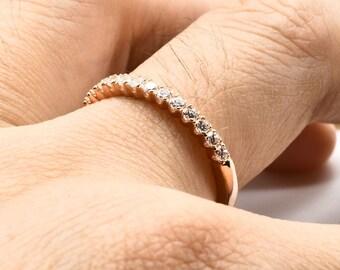 Wedding band  rose gold ring