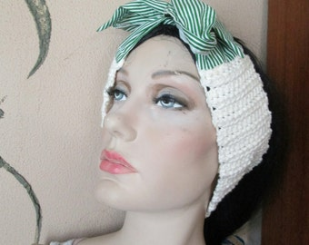 CROCHET RETRO HEADBAND