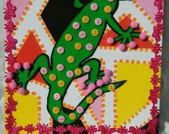 Gecko Wall Art Canvas