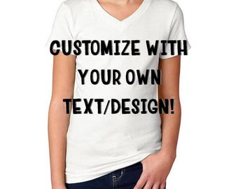 Customized Girl's Youth Tees - Your own text/design!