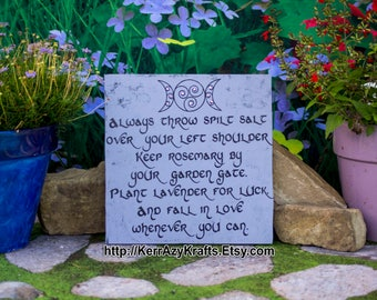 Made to Order: Always Throw Spilt Salt Over Your Left Shoulder, Keep Rosemary by Your Garden Gate, Practical Magic Sign Practical Magic