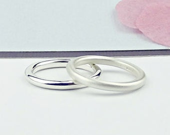 Silver Stacking Rings -silver ring-simple silver ring-silver wedding ring-silver wedding band-stack ring-stacking ring-silversynergy-uk