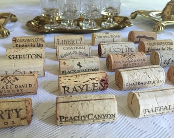FREE SHIPPING | Wine Cork Place Card Holders: Authentic and Handcut
