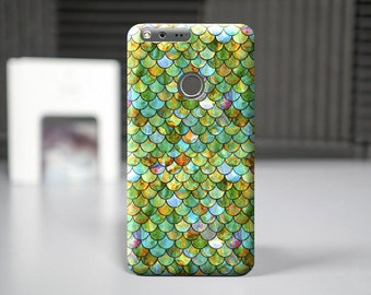 Green scale case for Google Pixel Xl, case for Pixel, Google Pixel cell covers, protector plastic case, Google cover, custom case, cell case