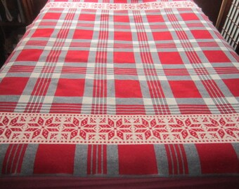 Reserved for Tawana...Beautiful Pendleton Eddie Bauer Wool Red and Grey Camp Blanket