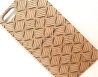 8, 7 iPhone case, 6s or 6 and Galaxy S8 wooden Maple or cherry - Made in France - Geometric 4