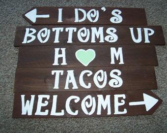 wedding signs , rustic wedding , wedding decor , personalizied sign , wedding reception , beach wedding, country wedding, wedding signage