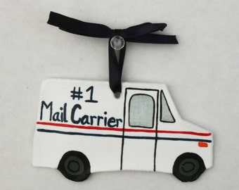Mail Truck Ornament, #1 Mail Carrier Ornament, Gift for Mailman, Mailman Ornament, Mail Carrier Appreciation, Mail Lady, Mailman Gift