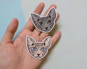 Sphynx Cat Vinyl Stickers