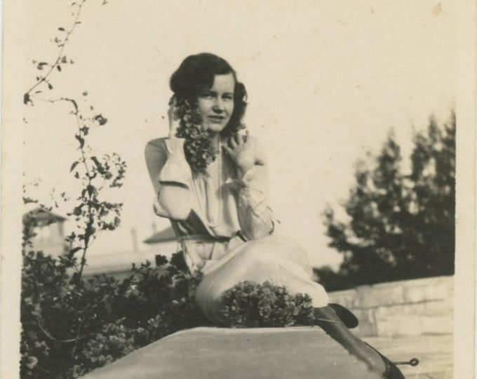 """Vintage Snapshot Photo: """"For My Sweetheart, Roof, Cairo, March 30, 1930"""" [84665]"""