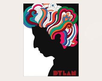 Bob Dylan Poster 1966 - Music Poster Bob Dylan Print Home Decor Vintage Poster Gift Idea Bob Dylan Art
