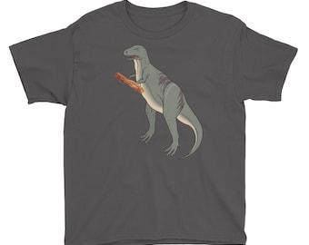 Dinosaur Bacon Dinosaur Bacon Youth Short Sleeve T-Shirt