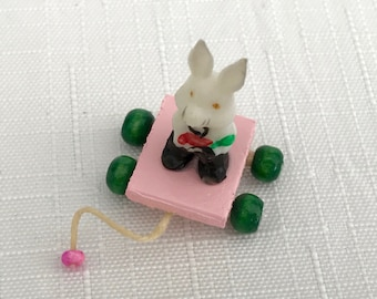 Antique Bunny Pull Toy