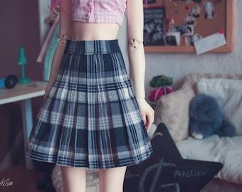 BJD Plaid School Skirt