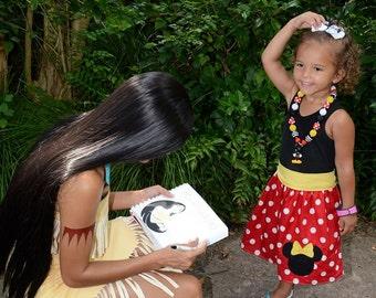 Custom Boutique Minnie Mouse Dress, Disney Vacation Dress, Girls Red Dot Dress, Black Tanktop, Birthday Dress, Custom Girls Dress