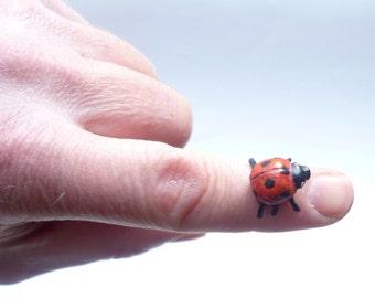 Ladybird Sculpture - Beetle sculpture, Ladybug Decor, Insect Sculpture, Ladybug Figurine, Ladybug Ornament, Window Display, Bug Art