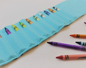 Crayon Roll in Origami Animals, Holds 16 Crayons