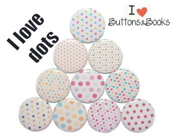 Fridge Magnet set 10 piece 50 mm points stained