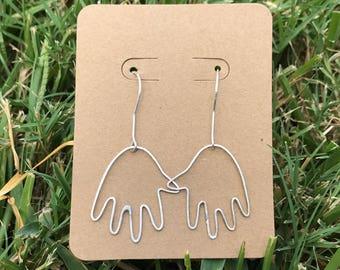 Petite Hand Earrings