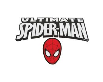 Spiderman Iron On Applique, Genuine Marvel Iron On Patch, Spiderman Patch, Glitter Patch, Spiderman Applique, Superhero Applique, Kids Patch