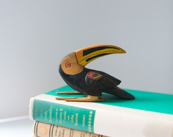 Vintage Wooden Hand Carved Toucan