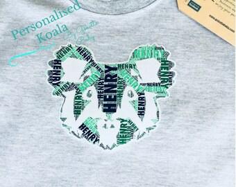 Personalised Koala T-shirt |  Koala Bodysuit | Australian | Custom Birthday Gift | Baby Shower Gift | Kids Clothes