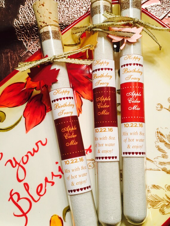 Apple cider Test Tube Wedding Favors Fall Wedding Favors