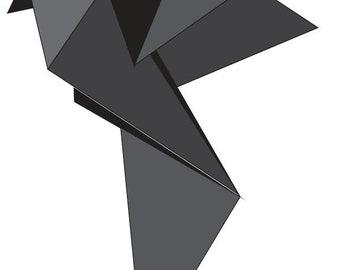 Black Origami Eagle