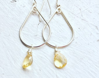 Citrine Earrings, Scorpio, Gifts for her, Scorpio Birthday, November Birthstone, Citrine Gemstones, Great Gift!