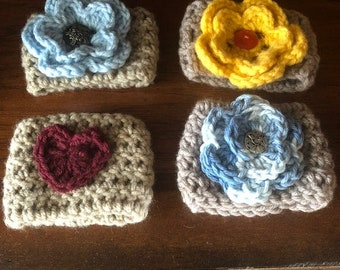Crocheted Coffee Cozies- set of 4