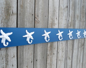 starfish pool towel rack outdoor shower beach towels organizer bathroom towel hot tub sports gym hear Outer Banks condo BeachHouseDreamsOBX