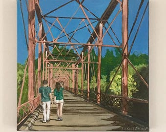Custom Painting, Photo Painting, Acrylic canvas, Commissioned Art, Painting from Photo, Holiday Photo Painting, Art Commission, Commission