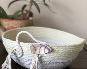 Cotton Rope Coil Basket