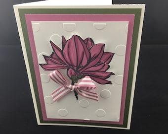 Mauve Flower Card