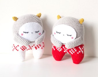 Crochet pattern monster Christmas, Amigurumi pattern Xmas monster, Monster pattern Xmas, Christmas gift monster, Xmas gift Monster Amigurumi