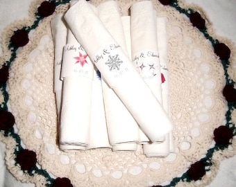 50 Snowflake Wedding Napkin Ring Cuffs Wraps. Personalized Favors