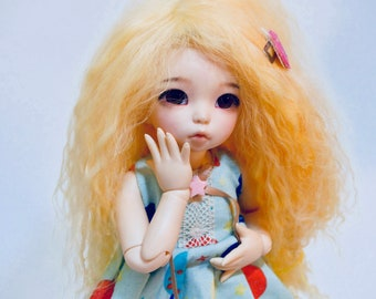 Mohair wig long LittleFee Yellow