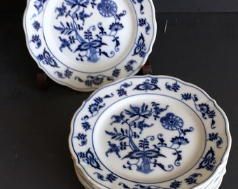 Lot Blue Danube Bread and Butter Plates Dessert Plates Blue Onion Plates 6