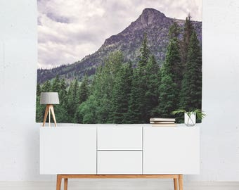 Mountain Peak Wall Tapestry, Mountain Tapestry, Dorm Room Tapestry, Forest Wall Tapestries, Wanderlust Tapestry, Rocky Mountains Tapestry