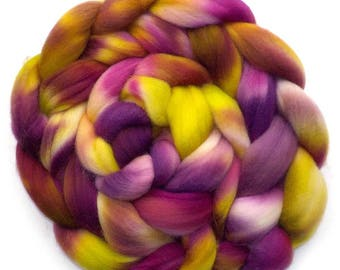 Falkland Roving Handdyed Combed Top - Vineyard 5.0 oz.