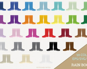 Rain Boots Vector, Galoshes Clipart, Rainboots Clip Art, Rain Boot SVG, Galosh PNG  (Design 13705)