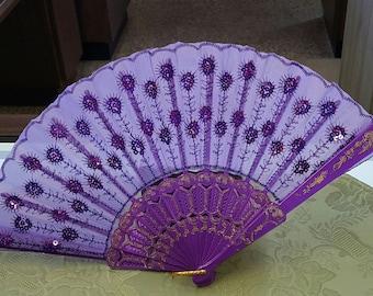 Beautiful beaded Fan