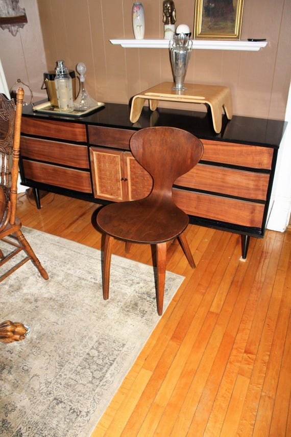 Mid Century Modern Chair By Cherner For Plycraft Vintage 1950s