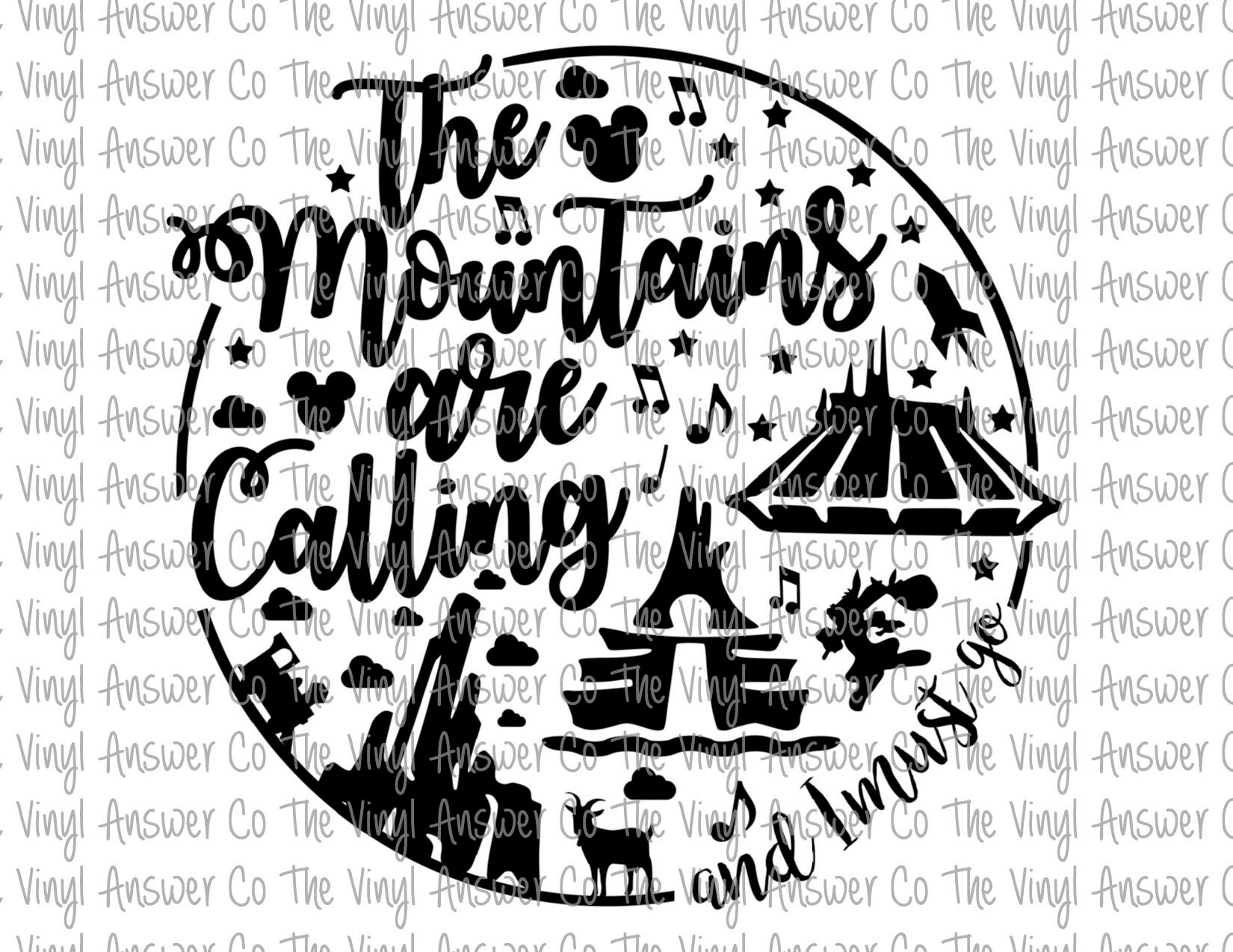 Digital Download Disney The Mountains Are Calling And I
